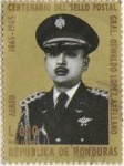 Stamps : America : Honduras :  Centenario sello postal gral.Oswaldo López Arellano