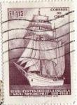 Stamps : America : Chile :  sesquincenario de la escuela naval de arturo prat