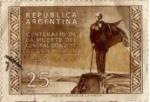 Stamps : America : Argentina :  centenario de la muerte del general jose de san martin
