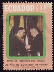 Stamps Ecuador -  Toma de posesión del mando