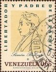 Stamps of the world : Venezuela :  Simón Bolívar - Libertador y Padre de la Pátria (Dibujo de Francois Roulin, 1828).