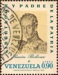 Stamps : America : Venezuela :  Simón Bolívar - Libertador y Padre de la Pátria (Dibujo al carboncillo de José María Espinosa, 1828)