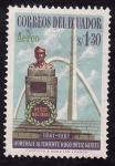 Stamps Ecuador -  HOMENAGE AL TENIENTE HUGO ORTIZ