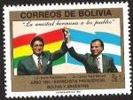 Sellos del Mundo : America : Bolivia : ENTREVISTA PRESIDENCIAL BOLIVIA Y ARGENTINA