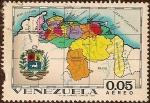 Sellos del Mundo : America : Venezuela : Mapa de Venezuela incluyendo la zona en reclamación de Guyana