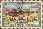 Stamps America - Venezuela -  Cuatricentenario de la Ciudad de Caracas - 1567-1967 - La Plaza Mayor.