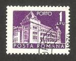 Sellos de Europa - Rumania -  edificio de correos
