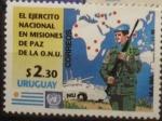 Stamps : America : Uruguay :  El ejército nacional en misiones de paz de la ONU