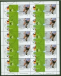 Stamps of the world : Argentina :  Hoja blocks de Futbol,,,, para intercambio
