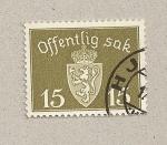 Sellos de Europa - Noruega -  Escudo