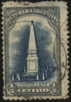 Stamps America - Argentina -  Conmemorativo del primer centenario de la Revolución del 25 de Mayo de 1810. Pirámide de Mayo.