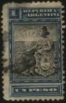 Sellos de America - Argentina -  El sol naciente. La Libertad y el escudo Nacional Argentino. 1899 a 1903