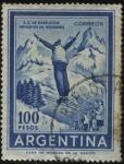 Sellos de America - Argentina -  Salto de esquí, deportes de invierno en San Carlos de Bariloche en la provincia de Río Negro.