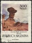 Sellos de America - Argentina -  Valle de la Luna Ischigualasto en la Provincia de San Juan en el Departamento Valle Fértil.