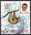 Sellos de America - Ecuador -  MISIONEROS DE LA SELVA ORIENTAL( Perezoso)