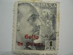 Stamps Europe - Spain -  FRANCO HABILITADO GOLFO DE GUINEA