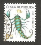 Stamps Europe - Czech Republic -  signo zodiacal, escorpión