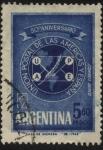 Sellos de America - Argentina -  50 aniversario de la Uni�n Postal de las Am�ricas y Espa�a.