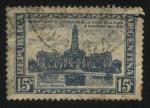 Sellos del Mundo : America : Argentina : Cincuentenario de la fundación de la ciudad de La Plata. Edificio del Palacio Municipal.