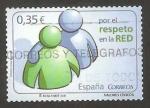 Sellos del Mundo : Europa : España : 4642 - valores cívicos, por el respeto en la red