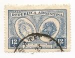 Stamps Argentina -  Centenario de la Convención de Paz Argentino-Brasileña