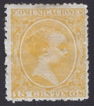 Stamps Europe - Spain -  Alfonso XIII, Tipo Pelón. - Edifil 229