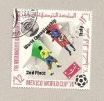Stamps Yemen -  Campeonato mudial Futbol Mejico
