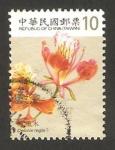 Stamps : Asia : Taiwan :  3230 - flor delonix regia