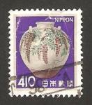 Stamps Japan -  jarrón de porcelana decorado