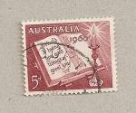 Sellos de Oceania - Australia -  Libro y vela