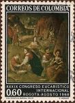 Stamps Colombia -  XXXIX Congreso Eucarístico Internacional, Bogotá agosto 1968.