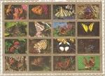 Sellos de Asia - Emiratos Árabes Unidos -  umm al qiwain, mariposas