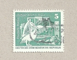 Stamps Germany -  Casa de Alfred Brehm