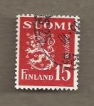 Sellos de Europa - Finlandia -  Escudo león