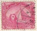 Stamps : Africa : Egypt :  Piramides y esfinge