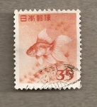 Stamps Japan -  Pez tropical
