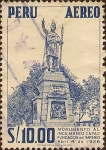 Stamps Peru -  Monumento al Inca Manco Cápac Fundador del Imperio (4 abr. 1926).