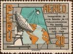 Sellos de America - Perú -  Inauguración de la Estación de Telecomunicaciones Vía Satélite, Lurín-Lima. Jul. 1969.