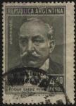 sellos de America - Argentina -  Roque Saenz Peña.  1851-1914. Abogado y político argentino. Presidente de la República 1910 a 1914.