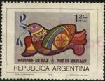 Sellos de America - Argentina -  Navidad en Paz año 1974.