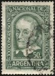 Stamps Argentina -  William Harvey. XXI Congreso Internacional de Ciencias Fisiológicas celebrado en Buenos Aires año 19