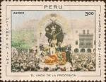 Sellos de America - Perú -  Octubre en Lima - El Señor de los Milagros - El Anda de la Procesión.