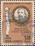 Sellos de America - Perú -  Día del Ejercito Peruano - 9 de Diciembre - Crl. Francisco Bolognesi.