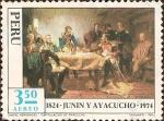 Stamps America - Peru -  Sesquicentenario de las Batallas de Junin y Ayacucho 1824-1974 - Capitulación de Ayacucho.
