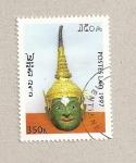 Sellos de Asia - Laos -  Máscara