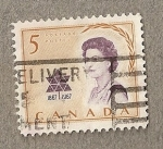 Stamps America - Canada -  Reina Isabel II