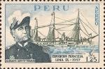 Sellos del Mundo : America : Perú : Exposición Francesa - Almirante Dupetit-Thouars.