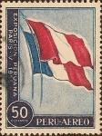 sellos de America - Perú -  Exposición Peruana en Paris - Banderas Perú-Francia.