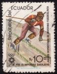 Sellos del Mundo : America : Ecuador : pre-Olimpiadas de SARAJEVO