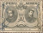 Stamps Peru -  IV Centenario de la Fundación de la Universidad Mayor de San Marcos 1551-1951.